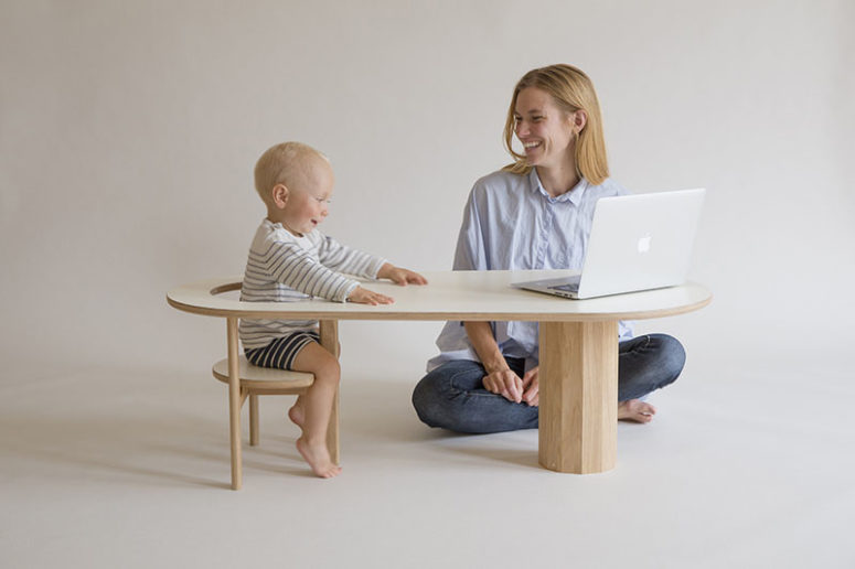 Boida Sofa Table To Seat Your Kid Well Within Arm's Reach
