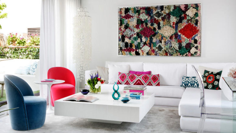 Vivacious Crispy White Apartment With Bold Touches