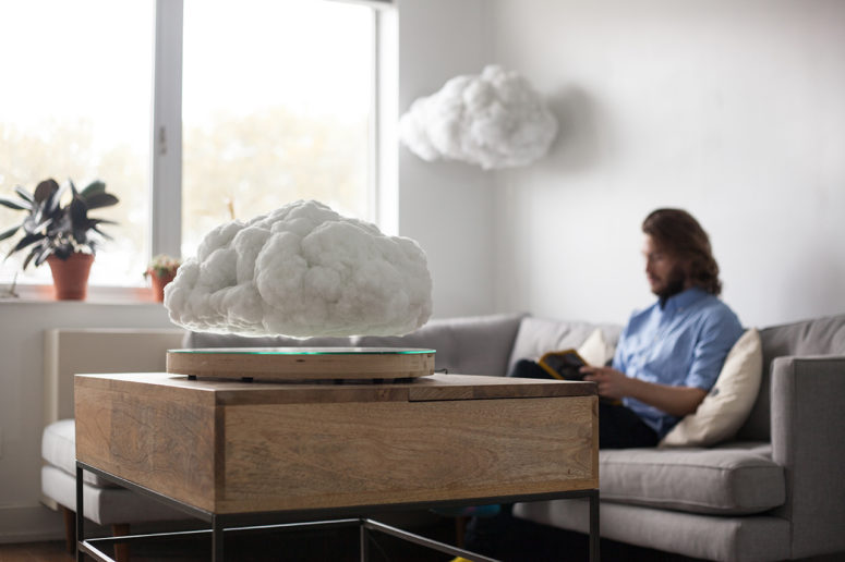 Making Weather is a unique art object that has a hidden speaker and LED lights
