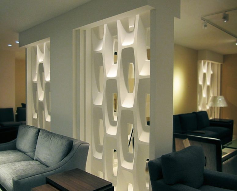 Show Stopping Sculptural Partition Walls Digsdigs