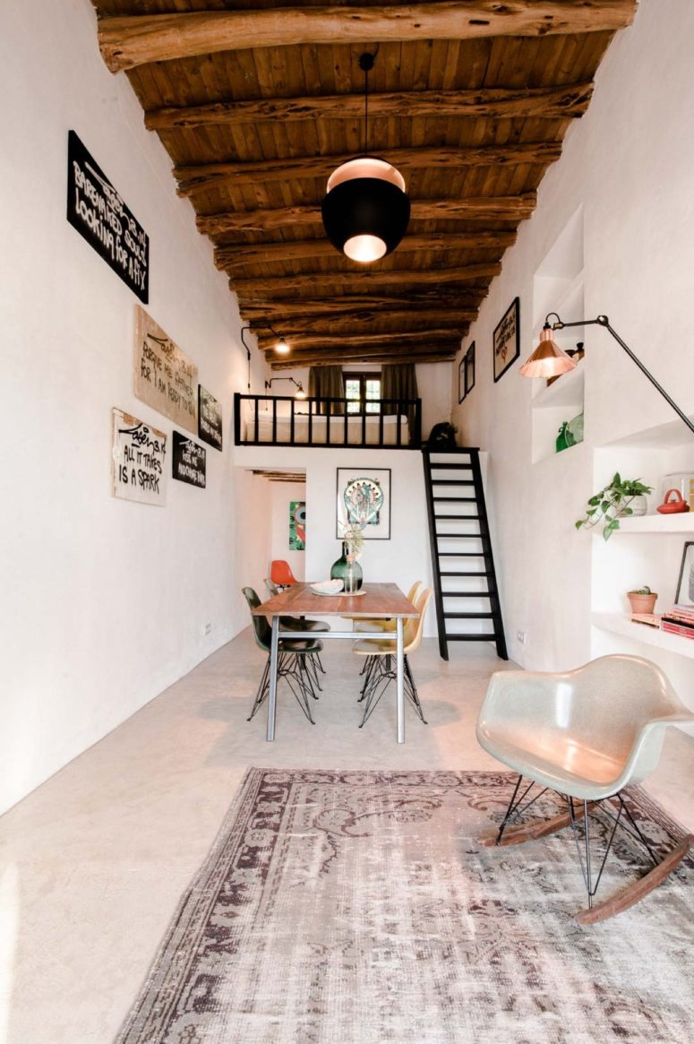 Eclectic Home On Ibiza Preserving Original Features