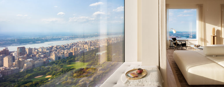 This penthouse is located in a New York building on the 86th floor, the views are stunning