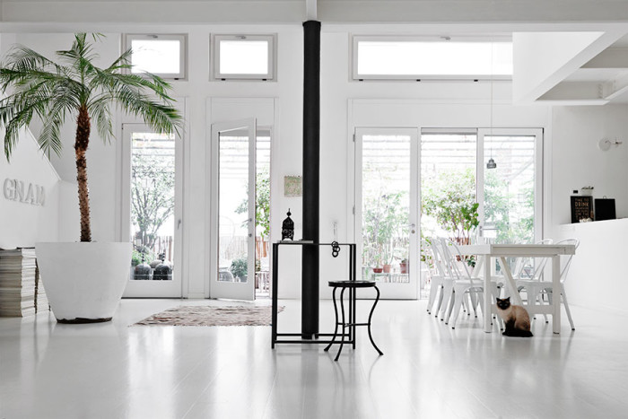 Scandinavian House Furniture All white scandinavian house with a patio digsdigs all white scandinavian house with a patio sisterspd