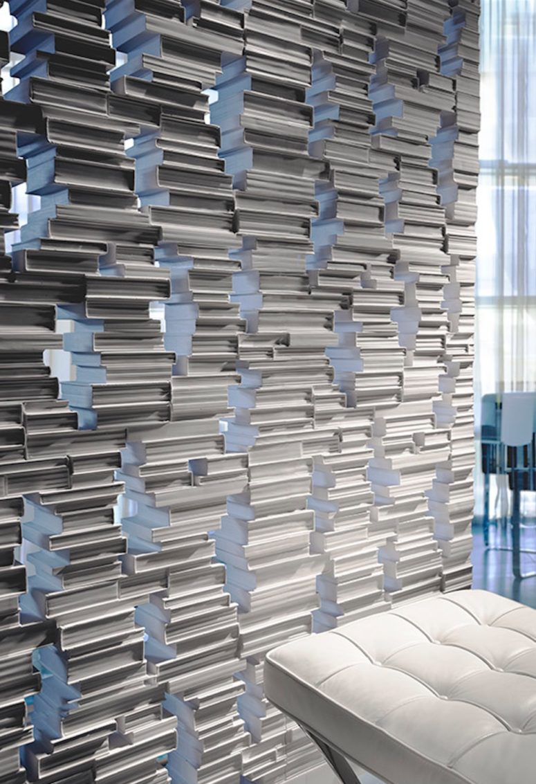 This book-themed partition is ideal for book worms and it looks like a real stack