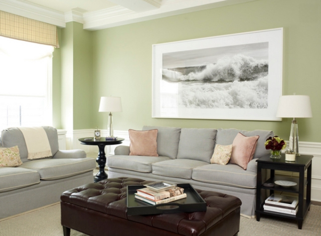 Living Room Ideas Grey Couch 30 green and grey living room décor ideas - digsdigs