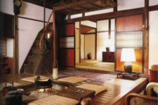 03 Japanese folk interior in shades of brown and beige