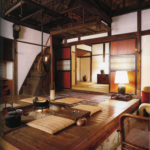 Delicieux Japanese Folk Interior In Shades Of Brown And Beige