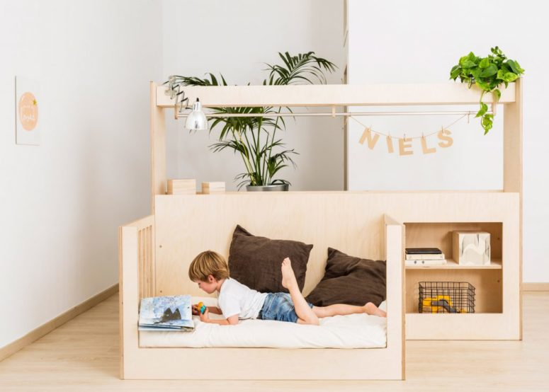 The Illa crib can be converted into a bed for toddlers if you lower it