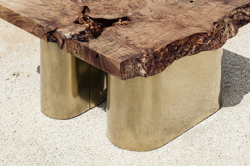 The natural eccentricities of the wood are preserved, lending to the pieces character
