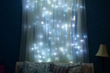 04 romantic trasparent curtains with LEDs inside that look like stars