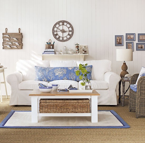 White And Blue Living Room 26 cool brown and blue living room designs - digsdigs