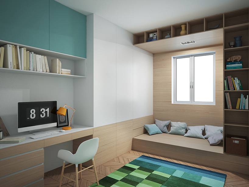 Clever kid's room planning leaves enough space for play and studying