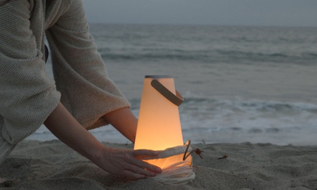 The piece can be taken to the beach too if you want soothing light and your favorite music