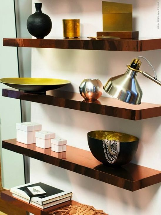 Folding Table Wall Mounted Ikea ~ copper IKEA Lack shelves hack for a stylish space