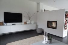 05 modern Japanese interior in cream, grey and with brown accents
