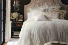 06 dark vintage bedroom with crystal wall lamps