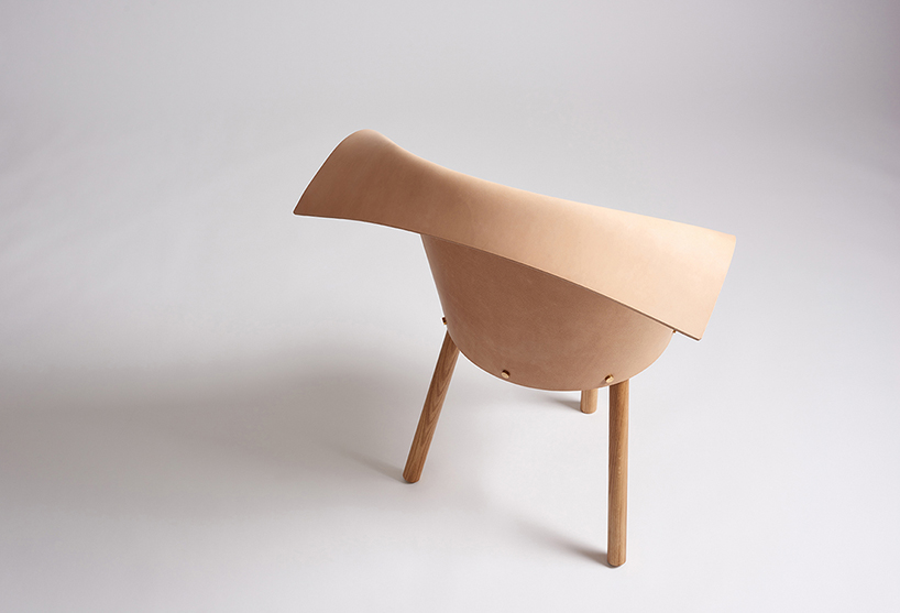 The piece reminds of a clog shoe, it's playful and looks calming and neutral