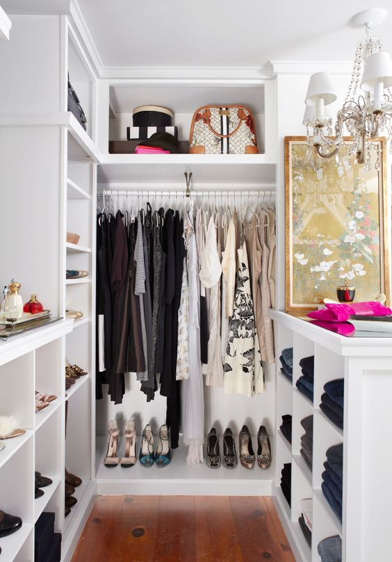 5 Small Walk-In Closet Organization Tips And 40 Ideas