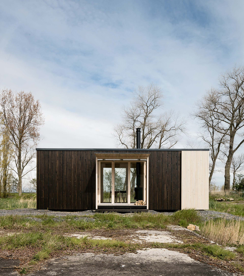 The simple design aims to merge into the landscape