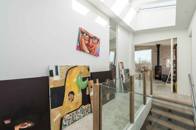 Bold artworks make the interior special and unique