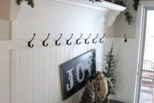 09 fir branch garland and a chalkboard sign, a stuffed snowman