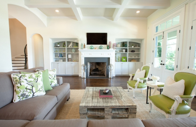 Grey And Lime Green Living Room 30 green and grey living room décor ideas - digsdigs