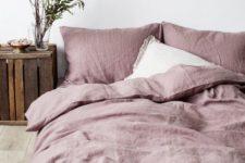 11 cozy pastel bedding for a rustic bedroom
