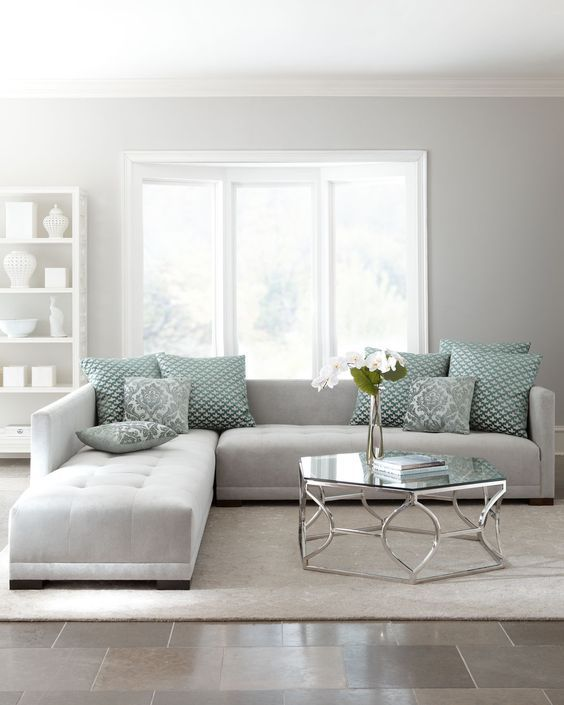 Grey Wall Living Room 30 green and grey living room décor ideas - digsdigs