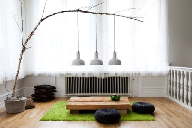 26 Serene Japanese Living Room Décor Ideas - DigsDigs