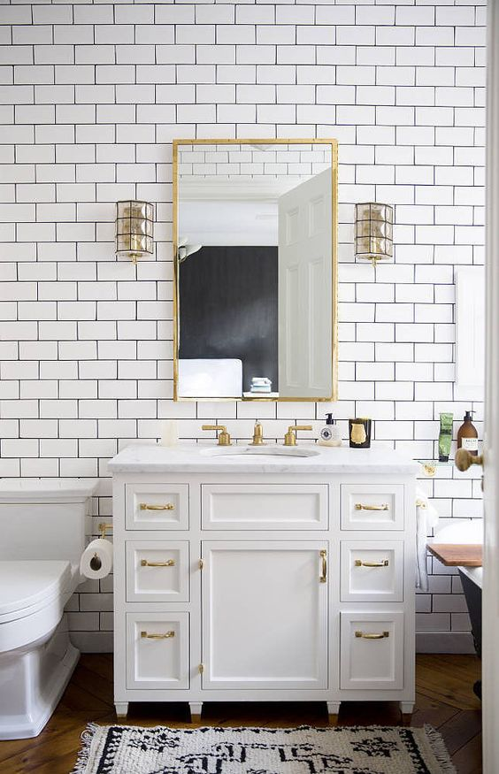 subway tile bathroom 33 chic subway tiles ideas for bathrooms digsdigs 11695