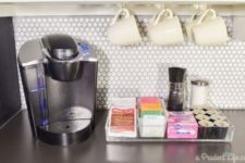 14 highlight your tea and coffee station with penny tiles