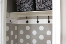 14 make some hooks right inside the drawers or wardrobes to hang everything you need
