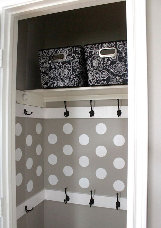 make some hooks right inside the drawers or wardrobes to hang everything you need