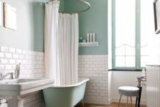 14 subway tiles used for a backsplash in the bathroom