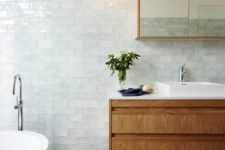 15 very pale aqua tiles for creating a relaxing serene bathroom look