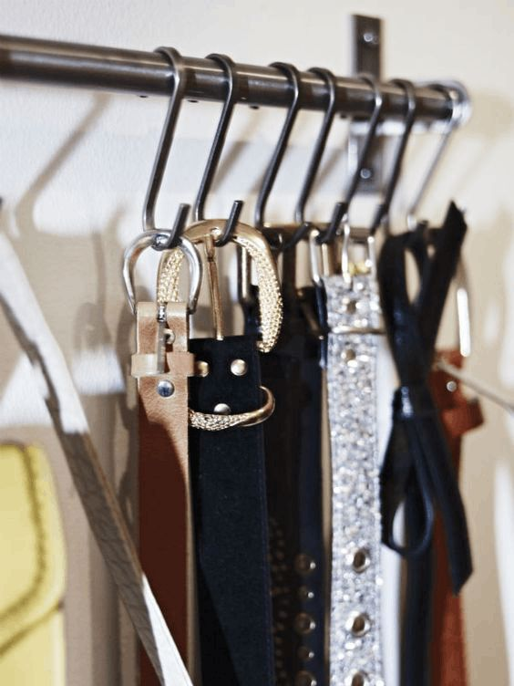Hang Your Belts And Sashes On S Shaped Hooks Is A Clever Idea To Squeeze