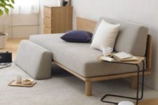 17 low Japanese-styled couch in light colors