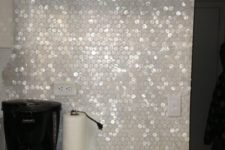 17 pearl hexagon backsplash will spruce up any kitchen, especially a modern one