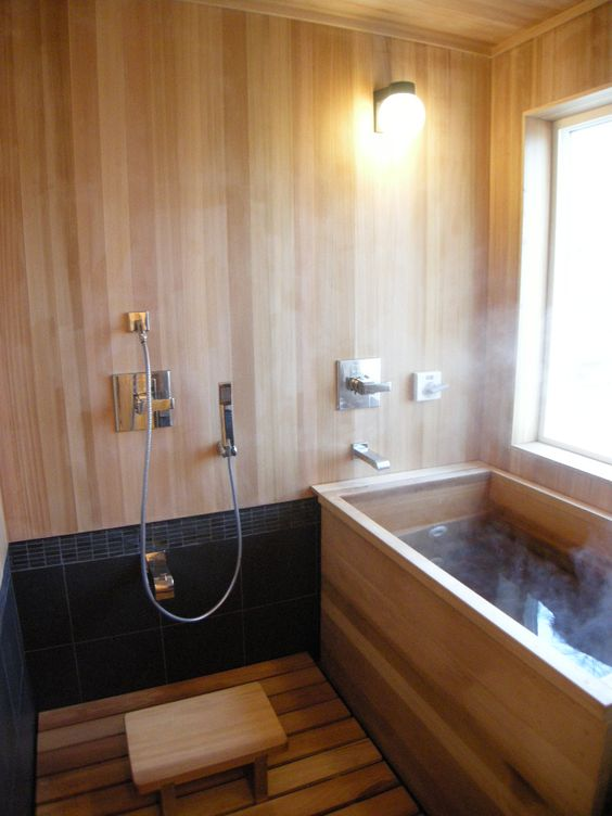 30 peaceful japanese inspired bathroom d cor ideas digsdigs for Small japanese bathroom design