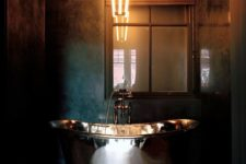 18 industrial space with a metallic bathtub for a masculine bathroom