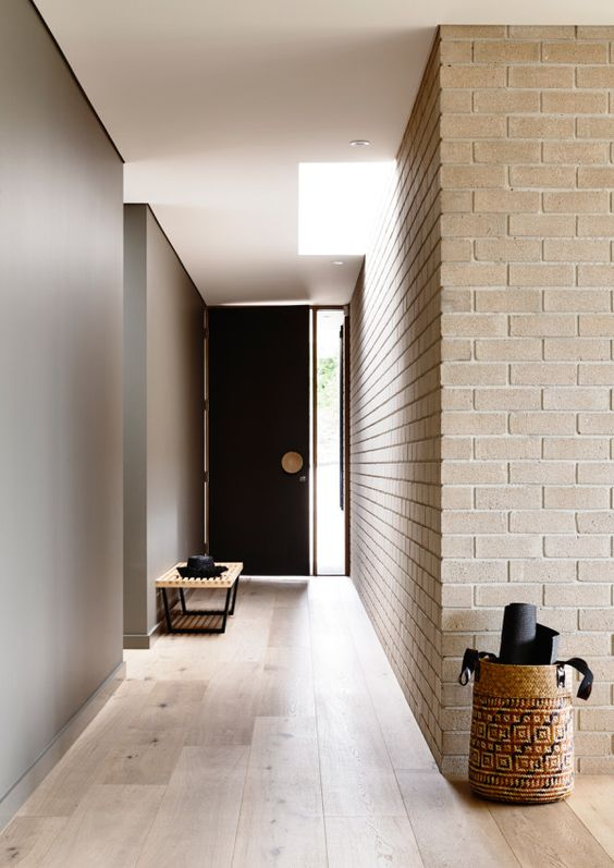 Foyer Minimalist Game : Trendy brick wall ideas for entryways digsdigs