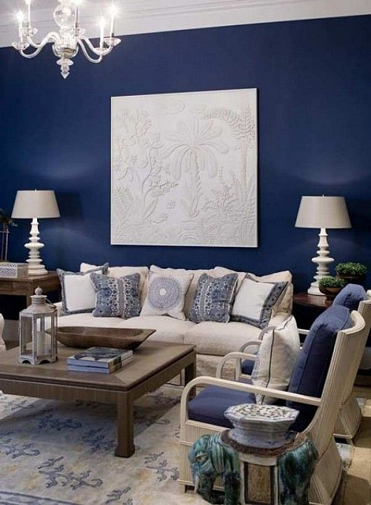 Grey Living Room With Blue Accents color passion: 30 bold painted accent walls - digsdigs