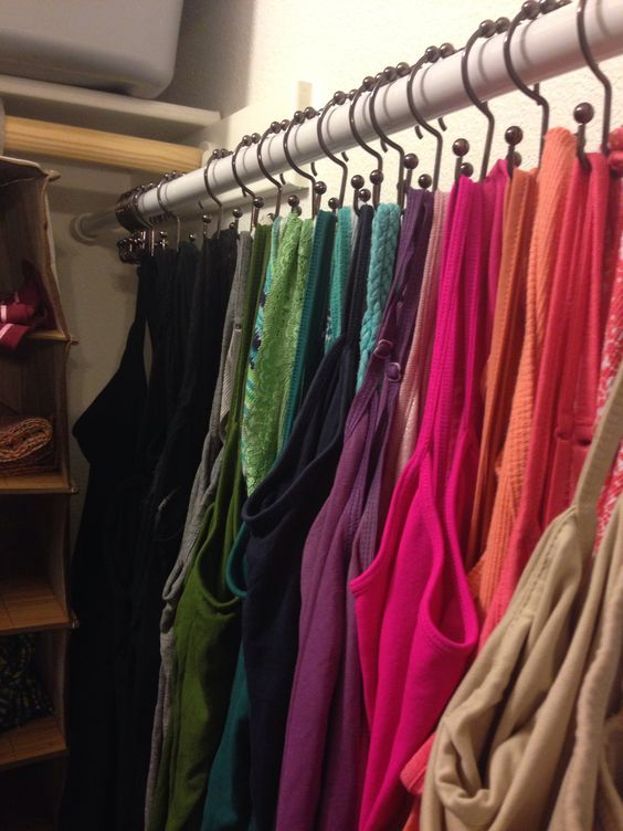 Your Tank Tops Can Be Easily Organized Using Hooks