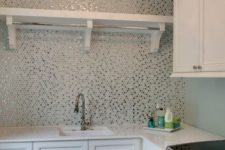 20 glimmering penny tiles in various colors for a cool look