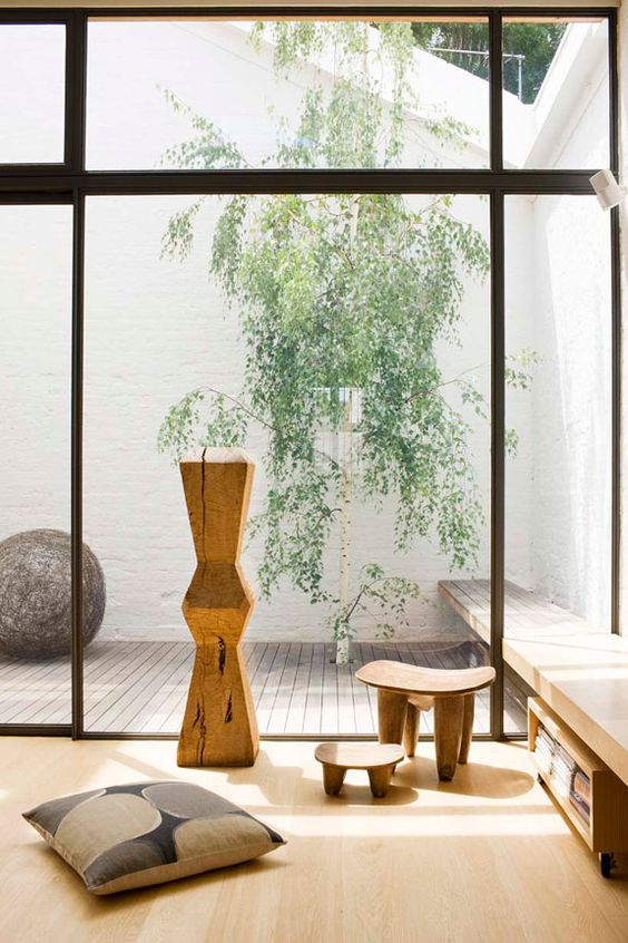 wooden floors, furniture and accessories are right what you need for a Japanese living room