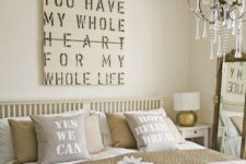 21 a cool artwork can add a romantic touch to the bedroom decor