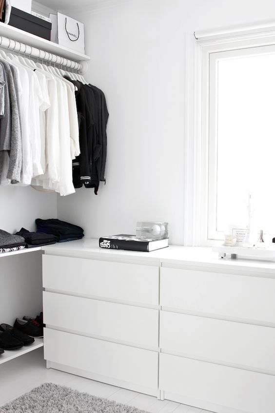 minimalist cabinet with drawers to store underwear and socks in order