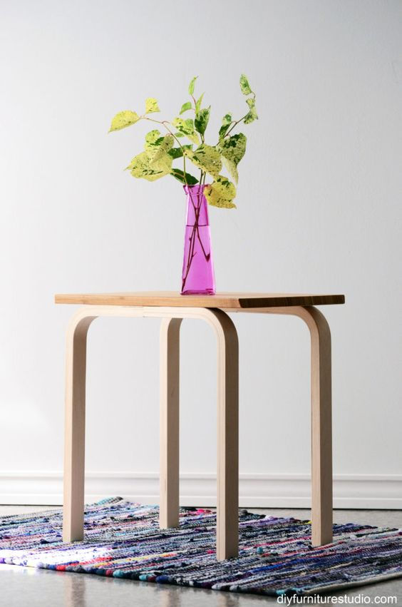 easy IKEA hack made with Frosta stool legs and Aptitlig chopping board
