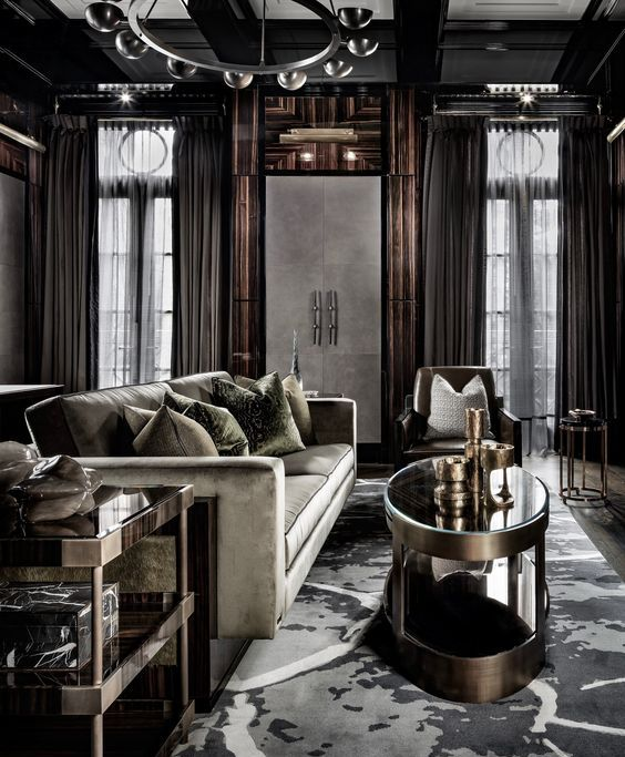 Elegant Living Room: 30 Dark Moody Living Room Décor Ideas