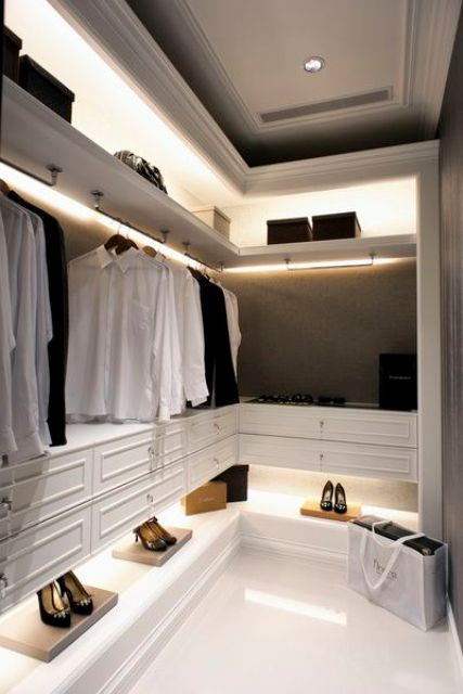 light up your closet for style and to make looking for things easier